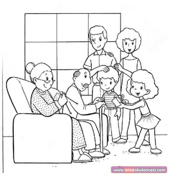 Yaşlılar Haftası Için Boyama Sayfaları önce Okul öncesi