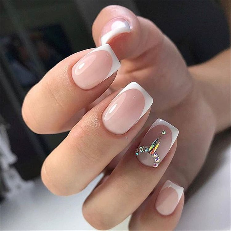 96 Lovely Spring Square Nail Art Ideas Classy Nail Designs Square Acrylic Nails French Tip Nail Designs