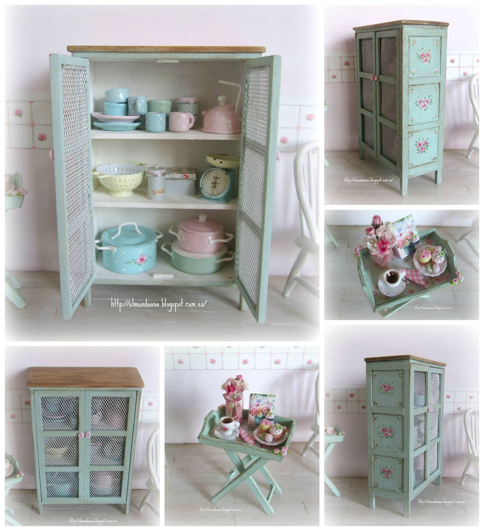 Attractive Dollhouse Miniatures · Deko BlumenMiniaturmöbelPuppenhausmöbelSelbstgemachte  MöbelKühlschrankMiniatur ...