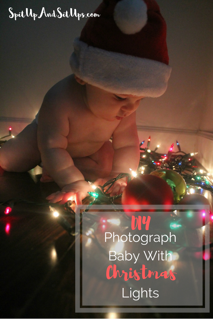 How to photograph baby with christmas lights diy photograph baby with christmas lights christmas lights diy photoshoot do it yourself photo solutioingenieria Images