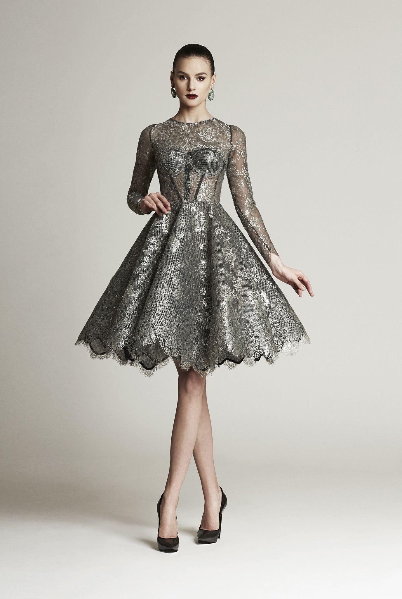 Look 2 | Silk chiffon, Silk and Metals