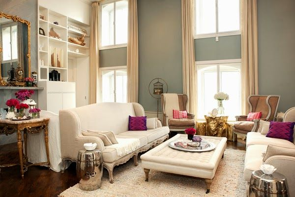 Decoración de Interiores de un Apartamento Estilo Romántico y