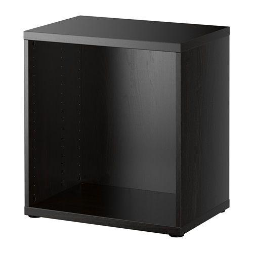 Structure Bestå Brun Noir Petit Coin Ikea Meuble Noir