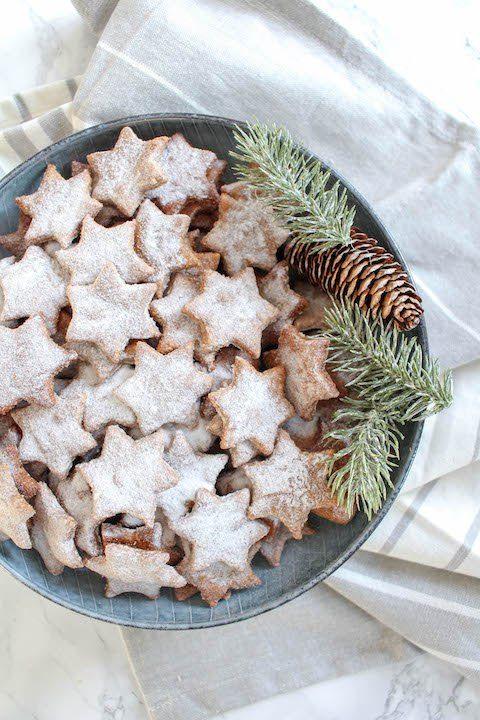 Weihnachtsplätzchen Glutenfrei Backen.Gesunde Zimtsterne