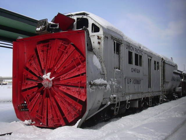 Union Pacific Rotary Snow Blower. (Plough) http://www ...