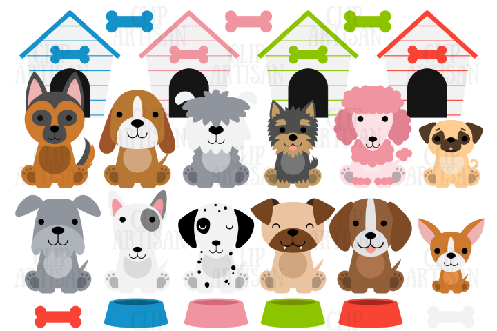 Dog Clipart Puppies Puppy Dog Cute Dogs 385350 Illustrations Design Bundles Dogs And Puppies Puppy Clipart Cute Dogs