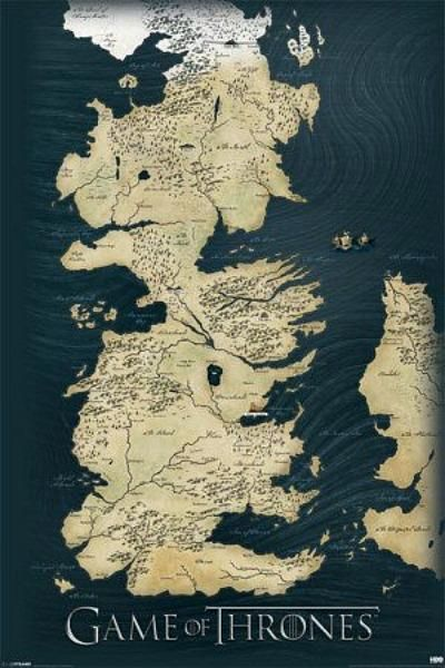 Game of thrones map maxi poster 61cm x 915cm new sealed game of thrones map maxi poster 61cm x 915cm new sealed gumiabroncs Images