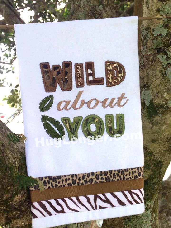 Applique Wild About You embroidery file HL 1057 by HugLonger on Etsy
