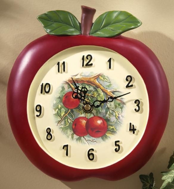 Vintage Look Apple Kitchen Wall Clock Notonthehighst