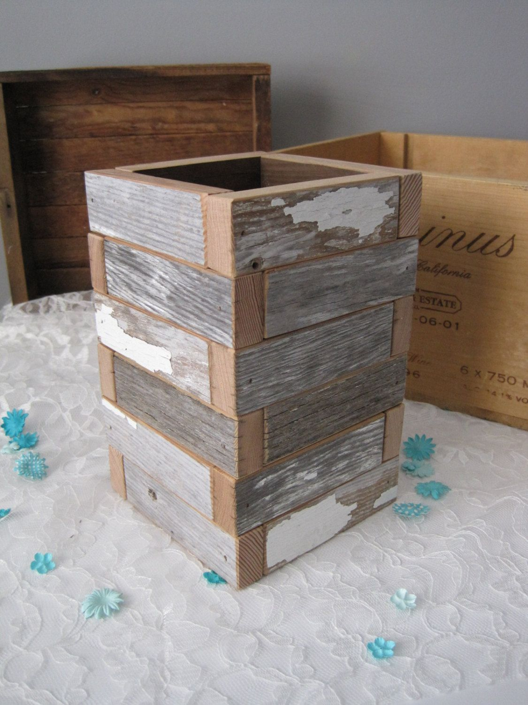 C H I P P Y Wood Box Reclaimed Wood Planter Box 36 00 via Etsy