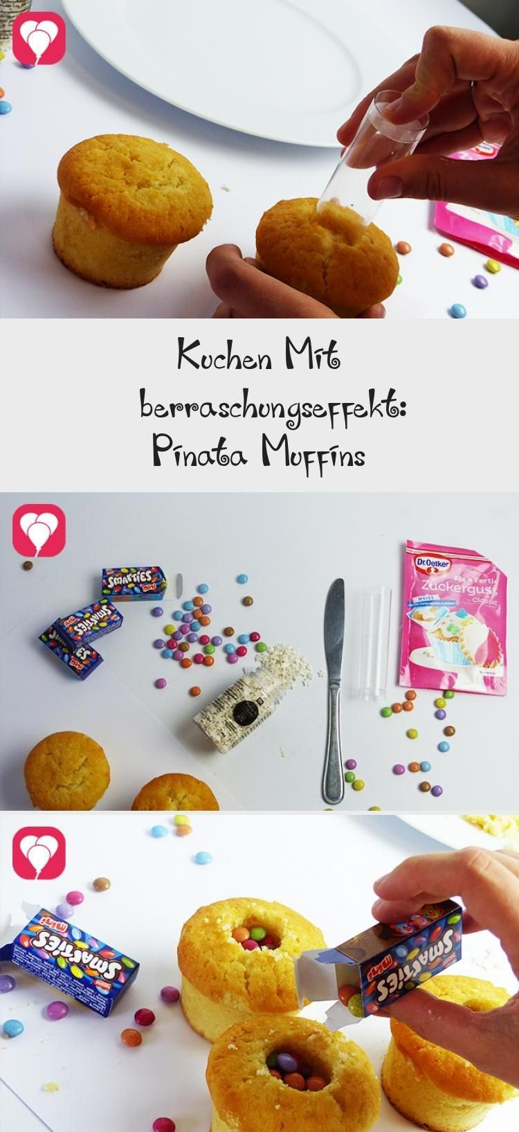 Photo of Kuchen mit Überraschungseffekt: Pinata Muffins – balloonas #PinataKuchenSchoko …