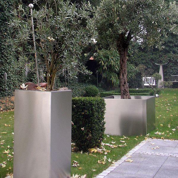 Pflanzcontainer aus Edelstahl Garten Pinterest