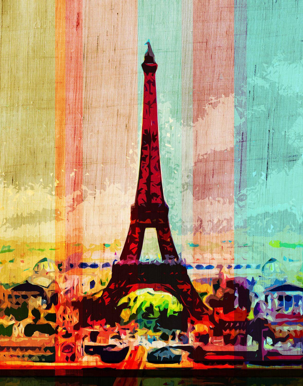 Eiffel tower digital art print digital art prints