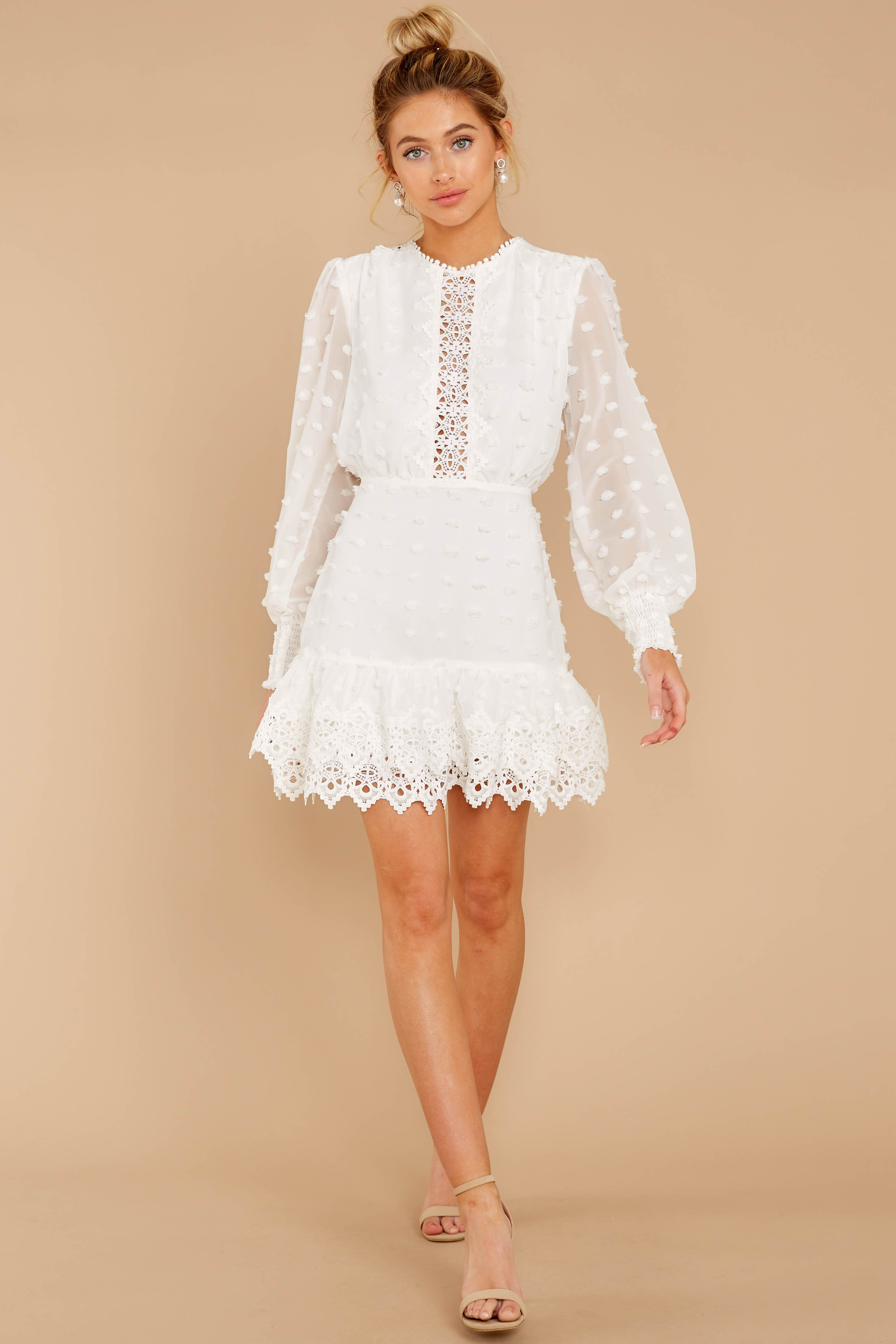 Stunning White Lace Dress Short Long Sleeve Dress Dress 54 00 Red Dress White Lace Dress Short Lace Dress Ethereal Lace Dress