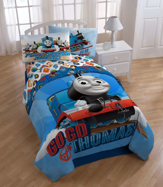 Amazon.  Thomas Train Ride Rails 4pc Twin Single Bedding Set