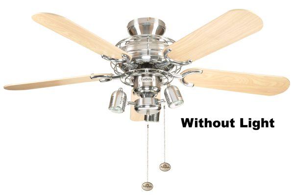Fantasia 110859 42in Gemini Stainless Steel Ceiling Fan Ceiling