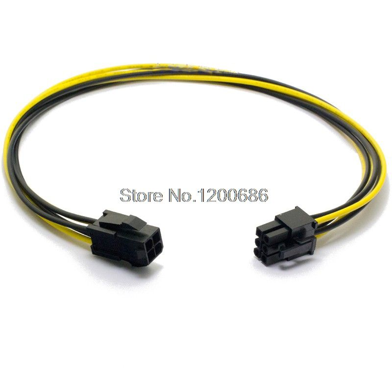 Cpu 4pin Transfer Card 6pin Power Supply Wire Harness 2 Pack 4 Pin Male To 8 Pin Female Pci Express Power Wire Harness Card Transfer Power Wire Power Supply