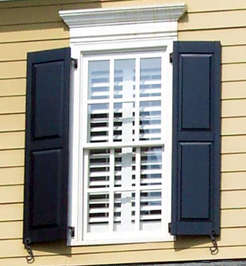 Exterior wood shutter styles southern shutter company - Raised panel interior window shutters ...