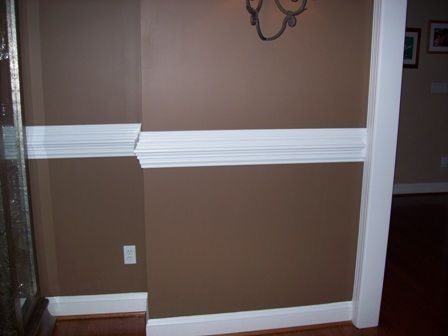 Wall Molding Idea.. I Mean Chair Railing!