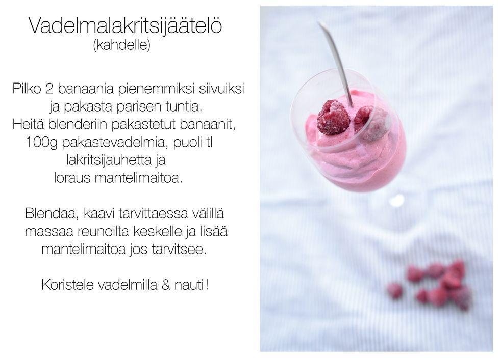 Vadelmalakritsijäätelö - Ella Elers | Lily.fi