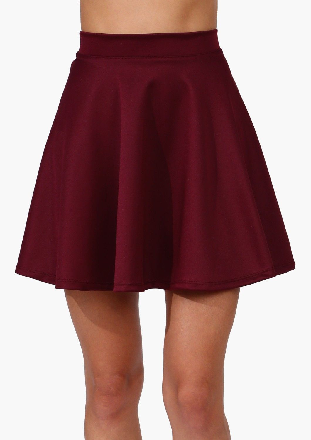 9698f84dc5 Burgundy skater skirt | style | Red skater skirt, Fashion, Burgundy ...