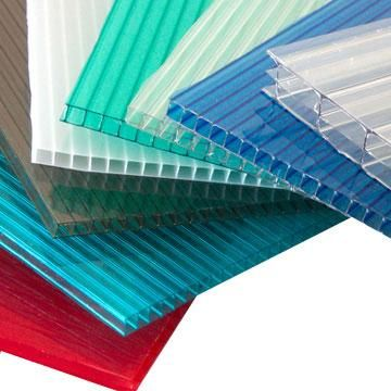 Polycarbonate Hollow Sheet Used For Ecological Green House Corrugated Plastic Roofing Plastic Roofing Aluminum Awnings