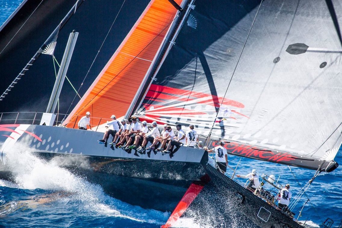 2016 RORC Caribbean 600, ©RORC/Emma Louise Wyn Jones Comanche, VPLP/Verdier 100 Super Maxi. Skippered by Ken Reed, in IRC CK