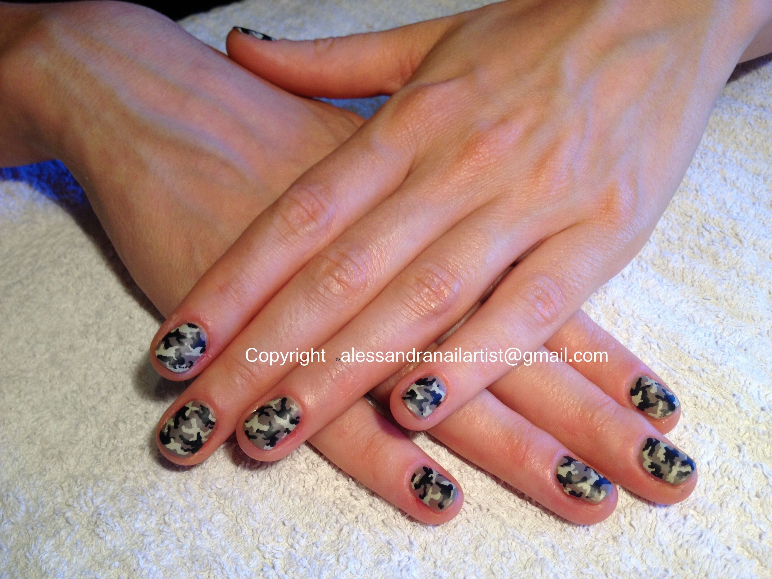 Easy nail art on natural nails: Camo print. So stilish with The ...