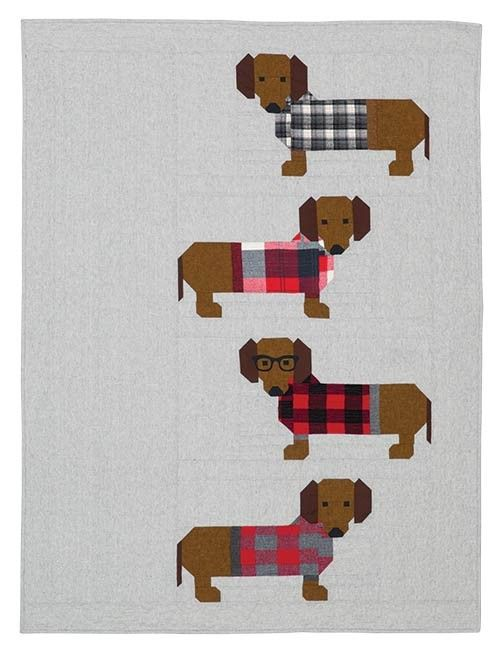 Dogs In Sweaters Quilt Kit By Elizabeth Hartman | Quilty Things ...
