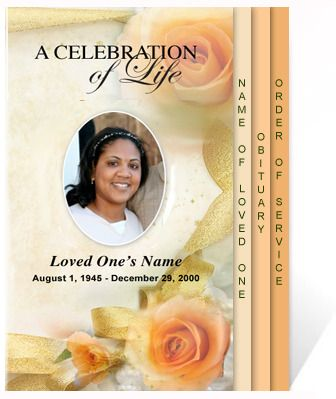 AO 4-Page Graduated  AO Rejoice 4-Page Graduated Program Template - funeral program background