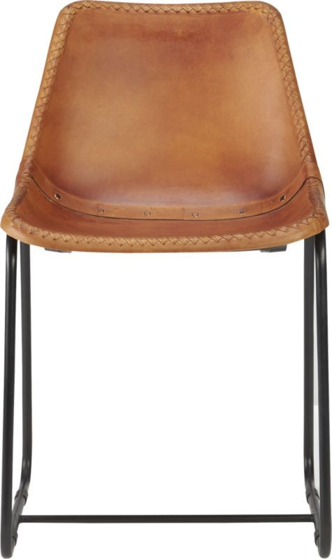 Roadhouse Leather Chair Cb2 For The Dining Room Table