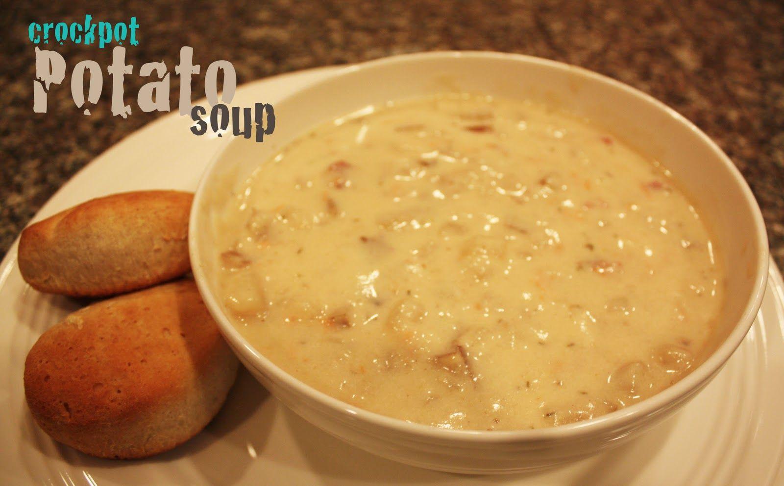 Crock Pot Potato Soup (contains bacon). http://www.repeatcrafterme.com/2011/12/crock-pot-potato-soup.html