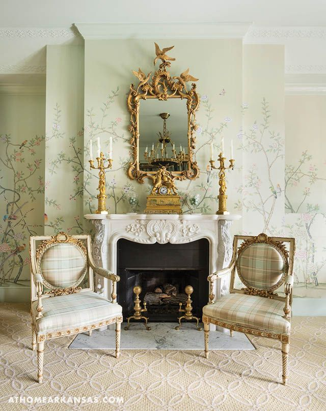 Historical Influence Luxurious Interiors Antiques Fireplace