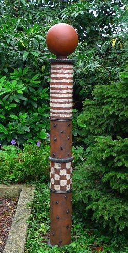 Kleine gartens ule mit kugel ideen sculpture pottery for Steinskulptur garten