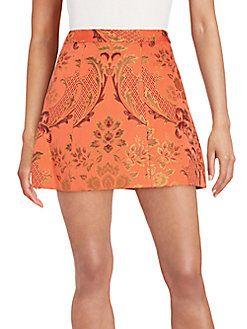 Alice + Olivia - Loran Stretch Brocade Mini Skirt