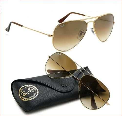ray ban aviator 3025 gold smokey sunglasses