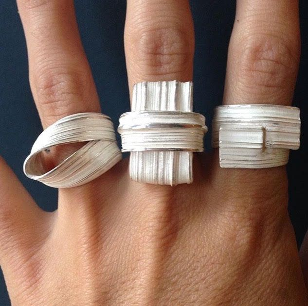 """""""Absolu rings"""" by Marion Lebouteiller. Recycled sterling silver."""