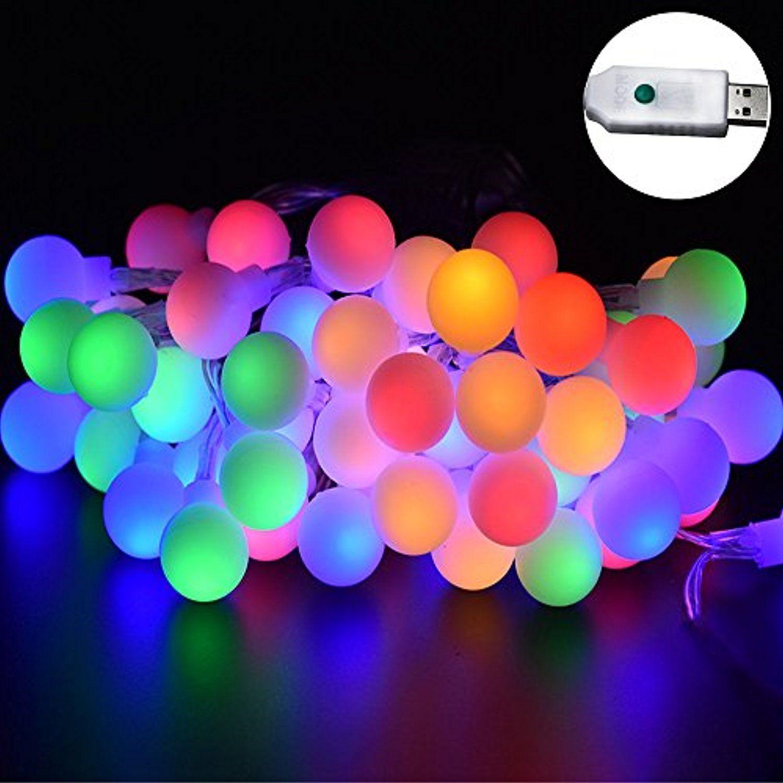 dodlightness 33feet 11m globe ball string light indoor outdoor led