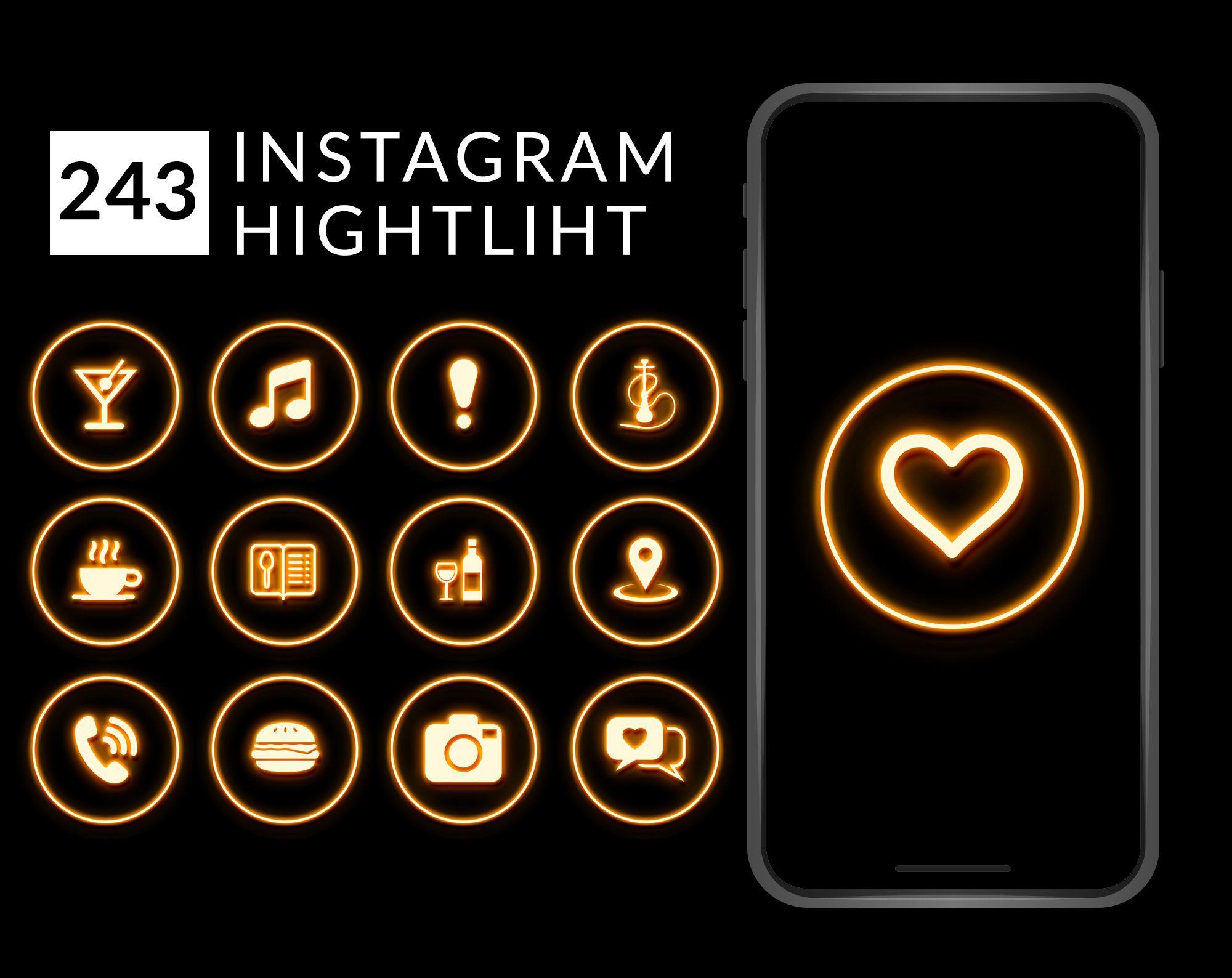 Yellow Orange Neon Highlight Covers Instagram Highlight Icons Etsy In 2020 Instagram Highlight Icons Instagram Design Cafe Icon