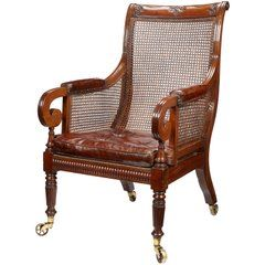 Best 19Th Century Late Regency Period Mahogany Library Armchair For Sale At 1Stdibs With Images 400 x 300