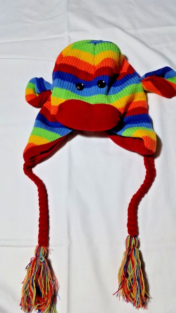 RAINBOW SOCK MONKEY HAT #Unbranded