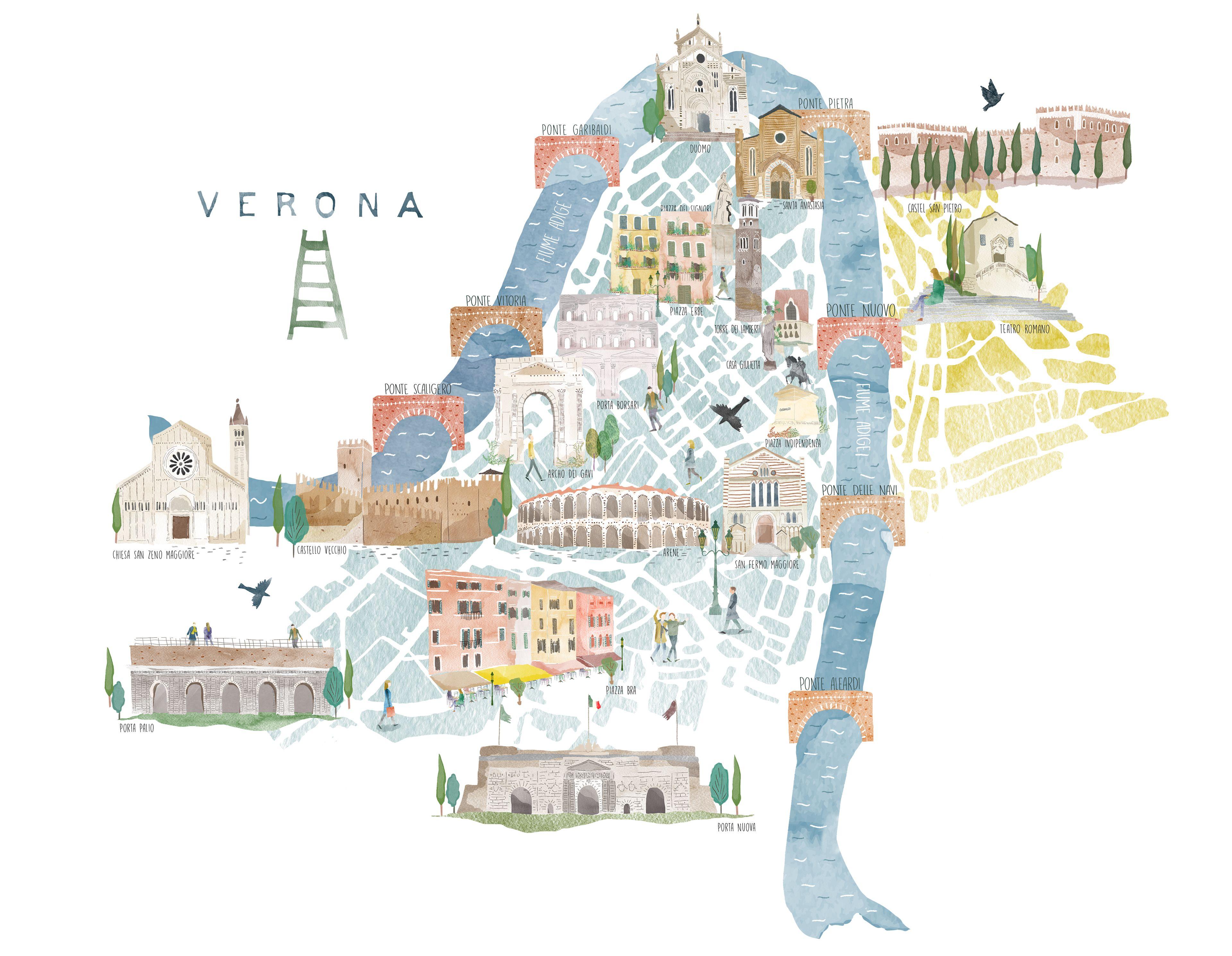 Map Of Verona Italy Europe 2017 In 2019 Italy Travel