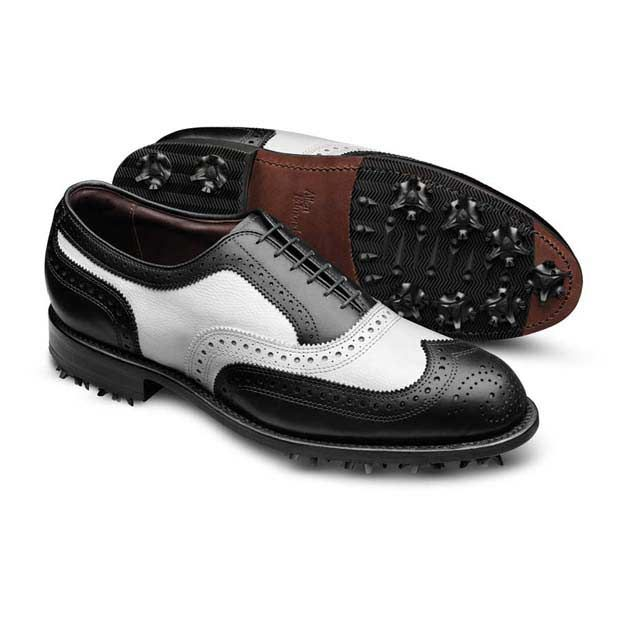 medalist two tone wingtip mens golf shoes by allen