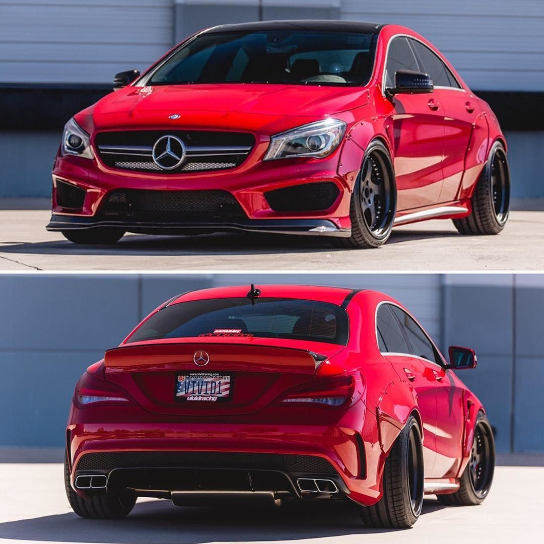 This was a very fun vehicle Mercedes CLA45 with a wide