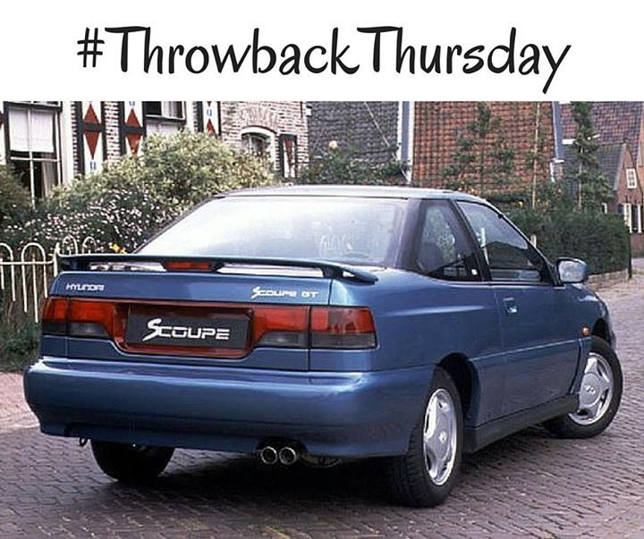 How many of you owned a 1992 #Hyundai Scoupe? #TBT