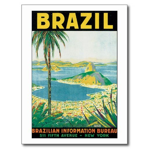 Vintage Travel Brazil Cartes Postales Vintage Travel Carte Postale