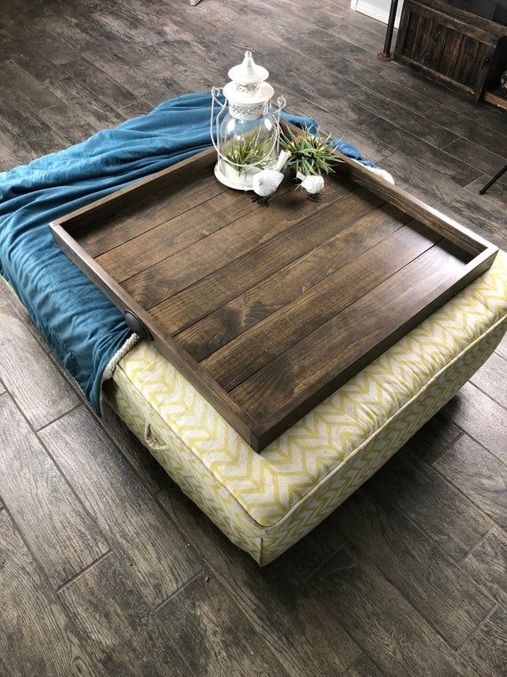 Oversized Ottoman Tray Table