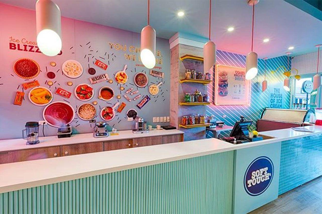 Cores para fachada de sorveteria
