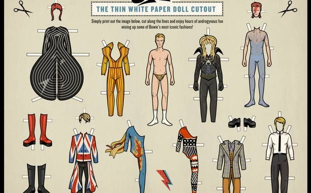 Bastelstunde: Designerin entwirft David Bowie im PDF-Format - Rolling Stone