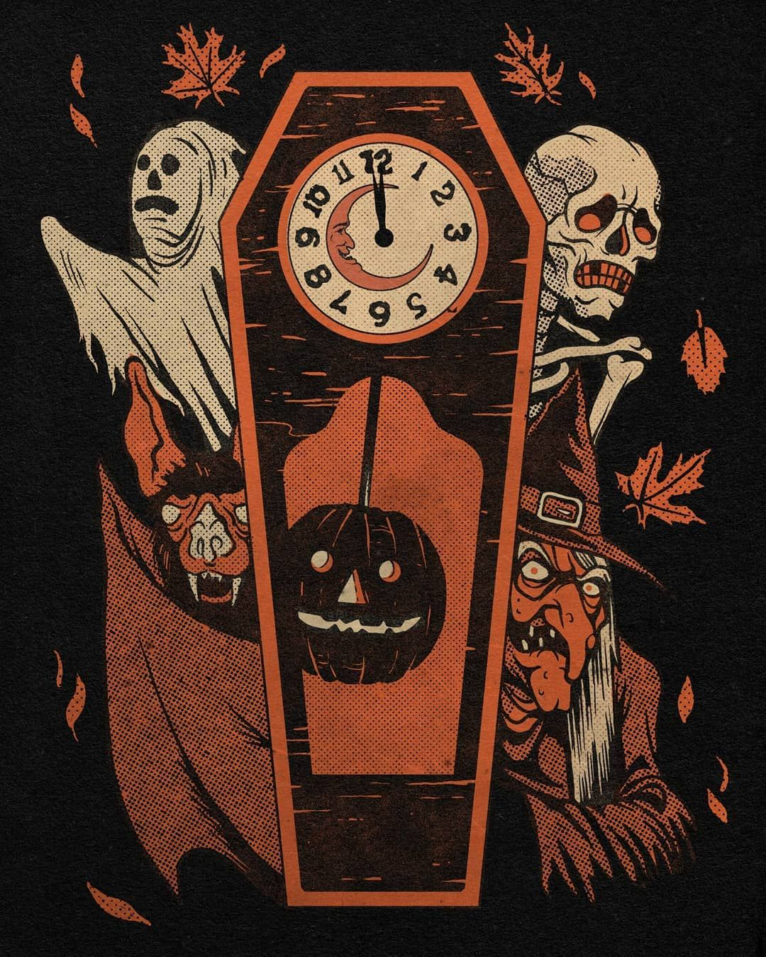 1 619 Likes 9 Comments Austinpardunart On Instagram The Time Is Here Happy Halloween Everyone Halloween Illustration Halloween Artwork Halloween Art